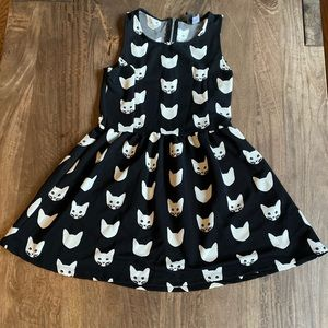 Black and White Cat Dress - H&M Small